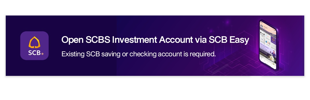 Open SCBS Investment Account via SCB Easy