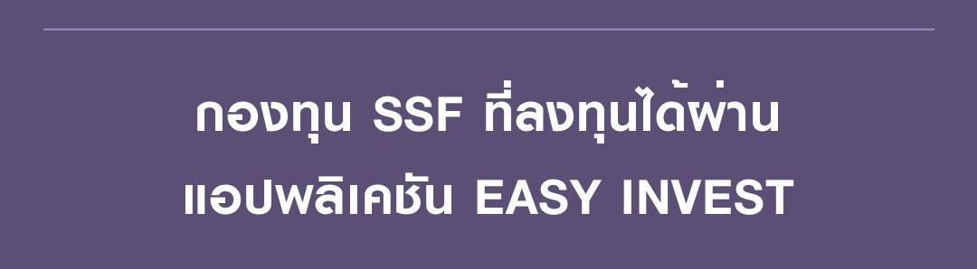 กองทุน RMF ที่ลงทุนได้ผ่านแอปพลิเคชัน EASY INVEST