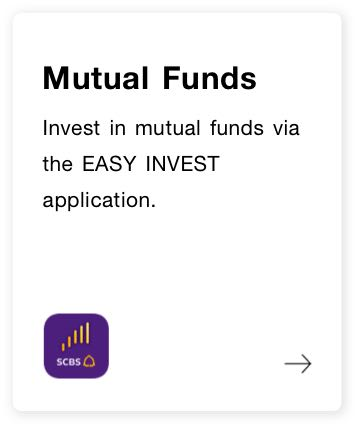 Mutual funds. Invest via the EASY INVEST application.