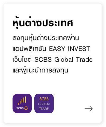 หุ้นต่างประเทศ ลงทุนผ่านแอปพลิเคชัน EASY INVEST เว็บไซต์ SCBS Global Trade และผู้แนะนำการลงทุน