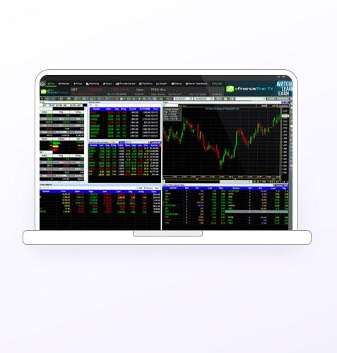 โปรแกรม eFin Stock Pickup บนคอมพิวเตอร์