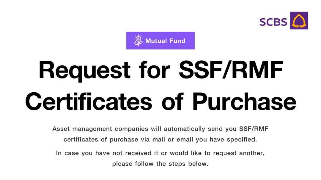 Request for SSF/RMF Certificates